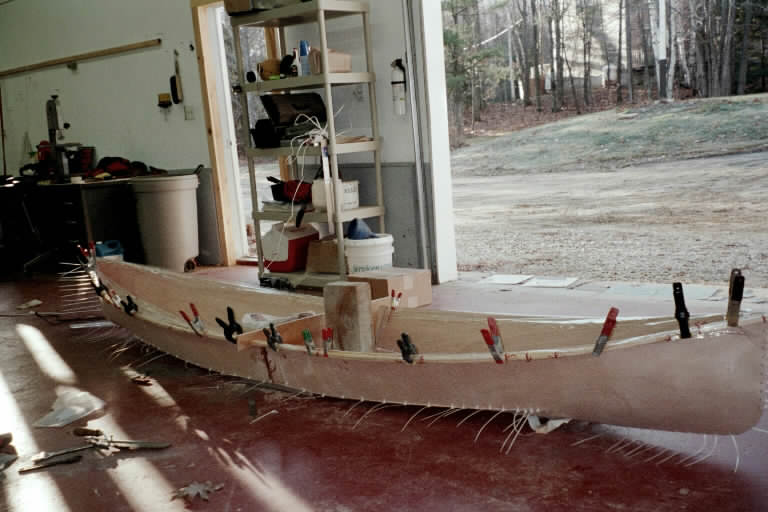 epoxy boatbuilding resin at work